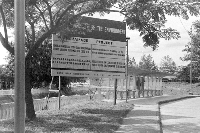 drainage project signboard at alexandra canal 02111974a