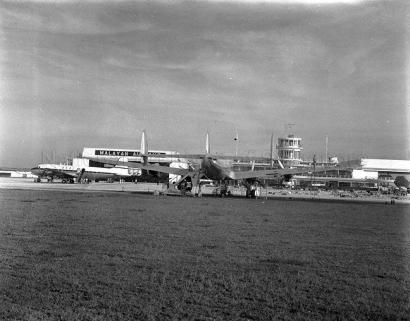 various planes parked at kallang airport 1950a