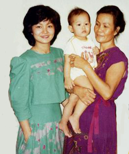 wei with mum and porpor
